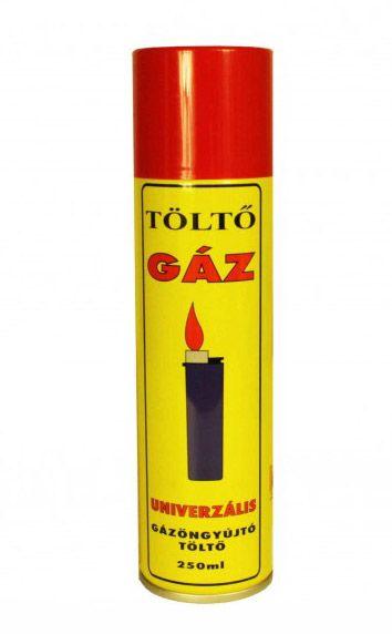 Gáztöltő univerzális Öngyújtó utántöltő gázpalack 250 ml