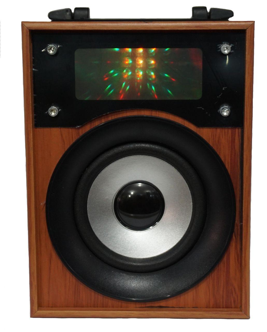 Hordozható Bluetooth multimédia lejátszó 3w hangszóró akkumulátorral Színes EQ kijelző, Mp3,FM-Rádió, USB, SD kártya - 15x11cm