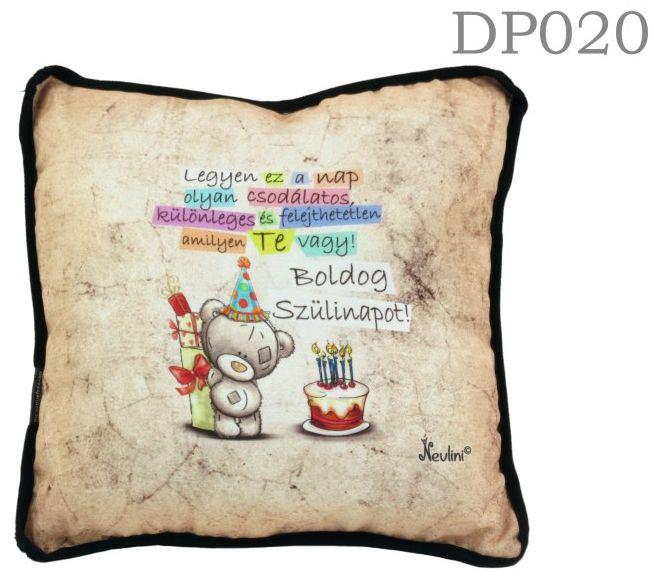 Boldog szülinapot Macis DP020 - Díszpárna