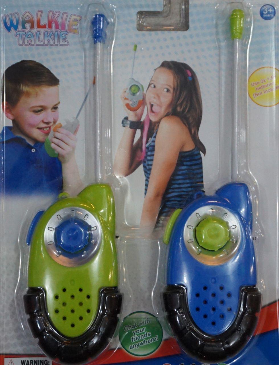 Adó-Vevő zöld-kék walkie-talkie Gyerek szett - Gyerek játék