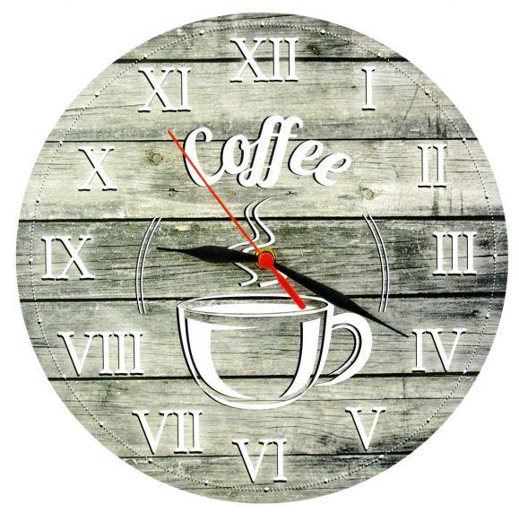 Falióra Coffee 28cm 8-281412 - Óra, falióra