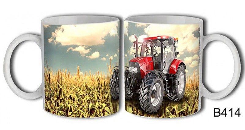 Bögre B414 Piros traktor - Ajándék bögre