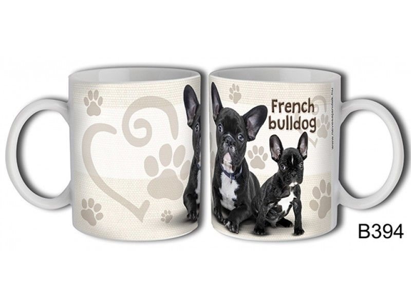 Bögre B394 French bulldog kutya - Állatos bögre