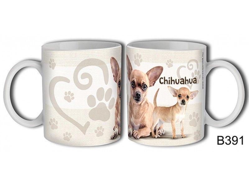 Bögre B391 Chihuahua kutya - Állatos bögre