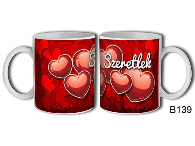 Bögre B139 Szeretlek - Szerelmes Szíves bögre