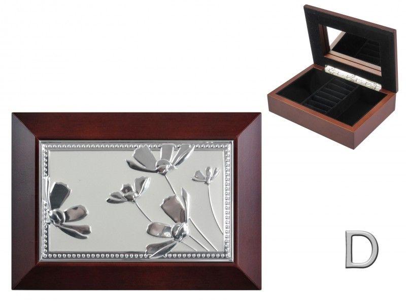 Ékszertartó doboz tükrös barna 18x13cm AFAS0068 6féle - Ékszertartó díszdoboz
