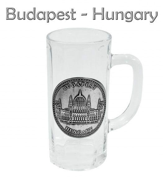 Söröskorsó 0,3l Budapest Parlament fémcímkés - Magyaros ajándék