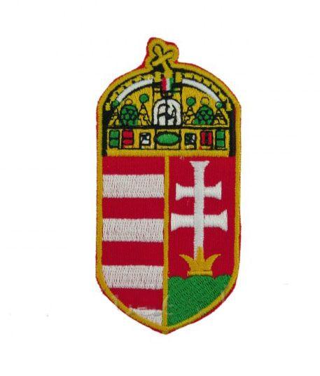 Matrica magyar címer CA 4,5x9,5cm - Magyaros ajándék