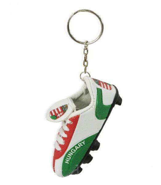 Kulcstartó foci cipő Hungary 9cm - Magyaros ajándék