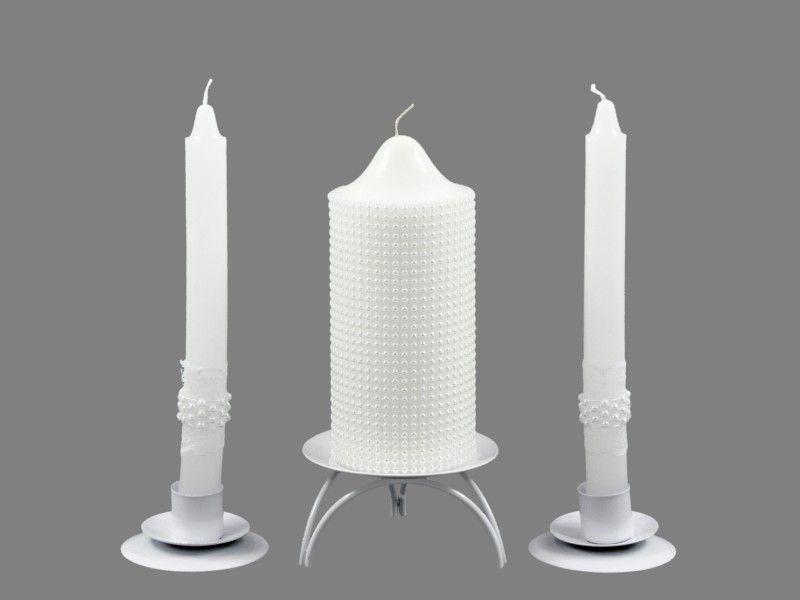 4316770556 Esküvői gyertya szett gyöngyös 3db-os 6099 - Esküvői kellékek ...