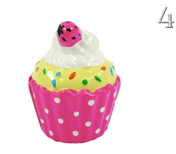Muffin persely 11cm 6féle 5969 - Persely