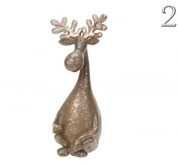 Rénszarvas figura arany 20cm ALX604480 2féle