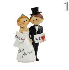 b452bb40f8 Esküvői jegyespár Just Married 11cm 1484 3féle