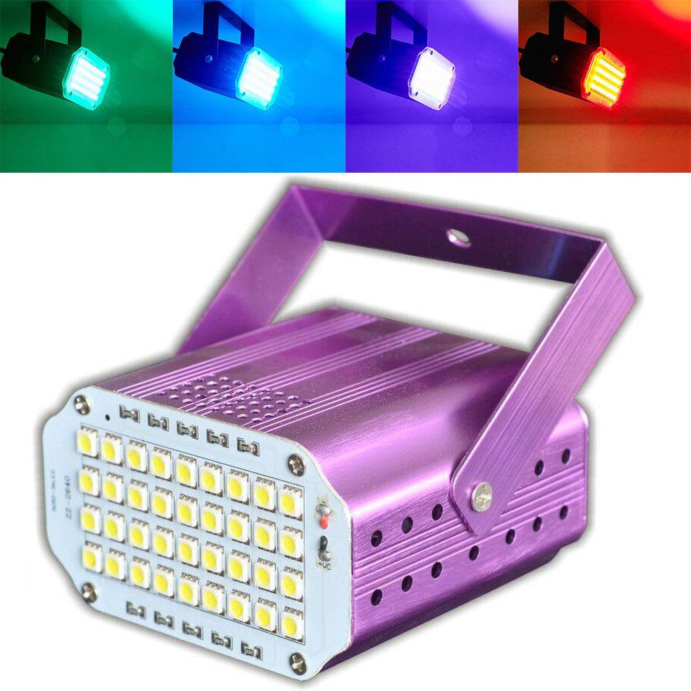 36 Led stroboszkóp mini disco lámpa hangvezérlés
