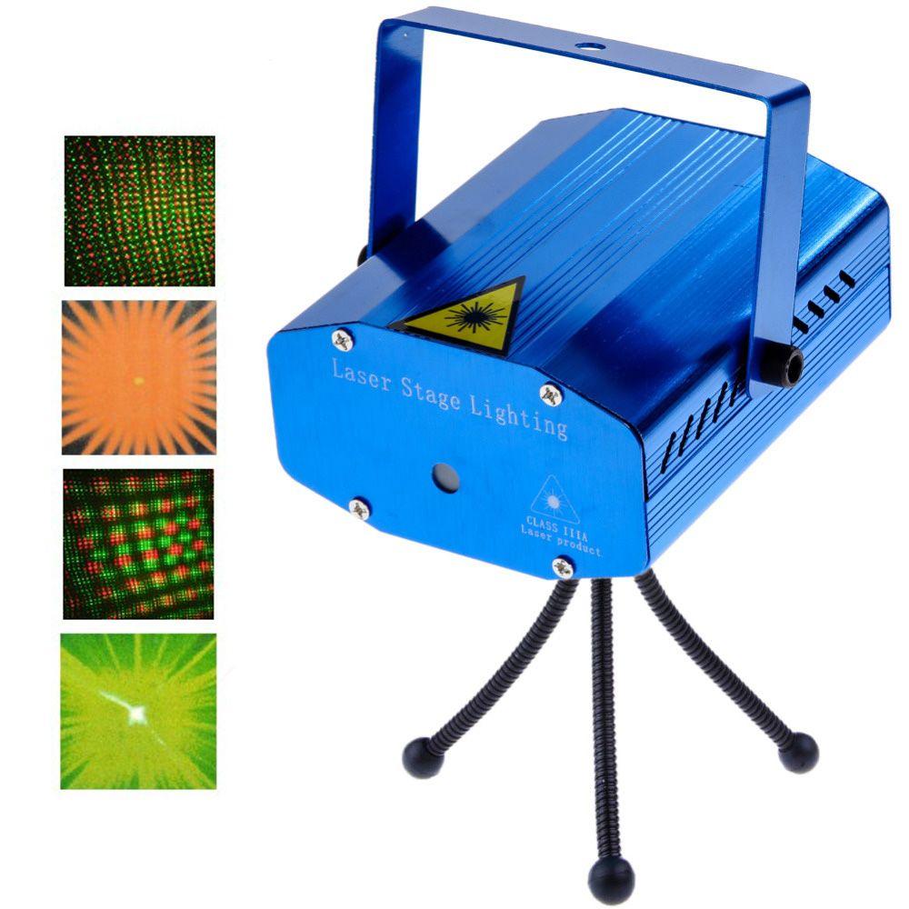 Lézer mini Disco fény Led disco projektor hangvezérlés - YX-09