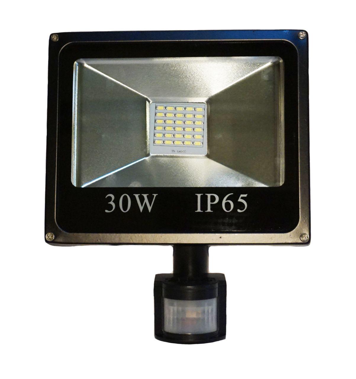 30W CREE LED-es mozgásérzékelős reflektor fényvető hideg fehér SLIM Szabadtéri spotlámpa IP65