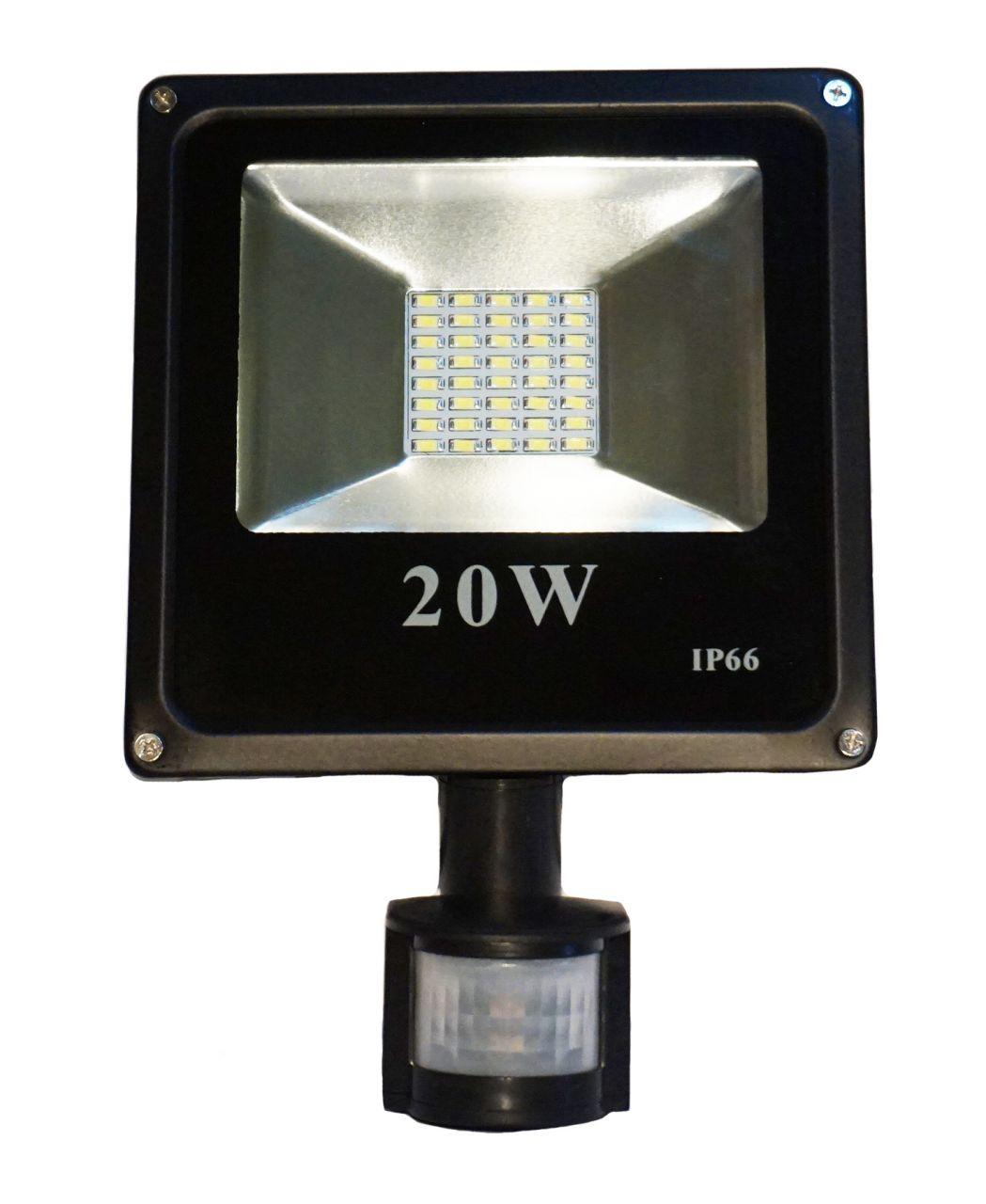 20W CREE LED-es mozgásérzékelős reflektor fényvető hideg fehér SLIM Szabadtéri spotlámpa IP66