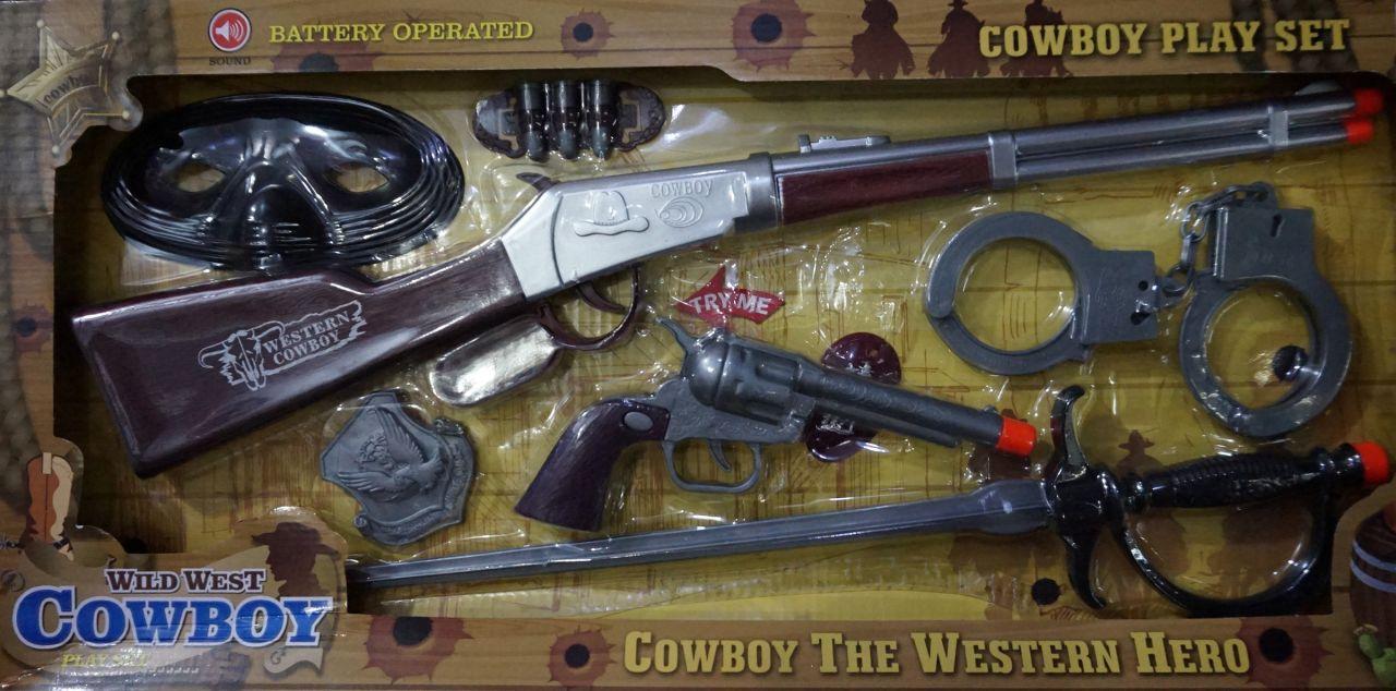 Műanyag Puska Western Cowboy szett 49 cm No.828 - Gyerek játék