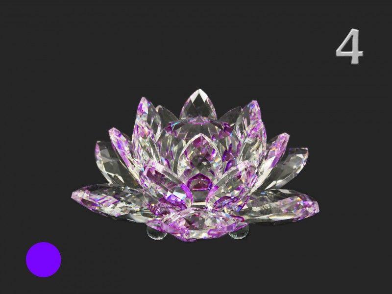 Lótusz kristály/70 16x7cm 7178 6féle