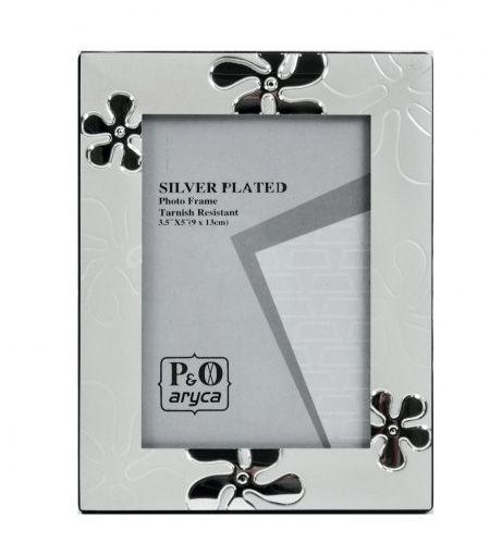 Fényképtartó virágos Silver 9x13cm-es képhez ASP17-3R - Fényképtartó
