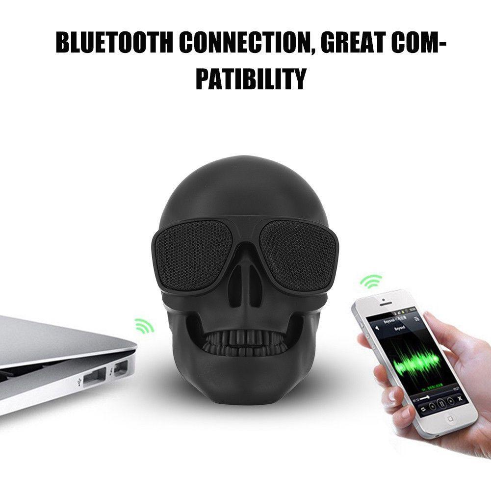 Bluetooth hangszóró Halálfej Mp3,Rádió,USB, TF/micro SD kártya, AUX 3,5 jack, - Halálfej