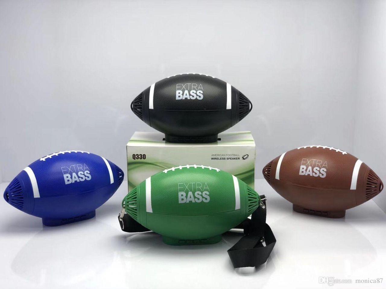 Bluetooth hangszóró Mp3,Rádió,USB, TF/micro SD kártya, AUX 3,5 jack, Telefon kihangosítás - Rögbi Labda Q330