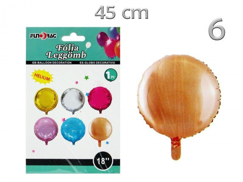 Lufi fólia kerek színes 45cm 605655 6féle szín