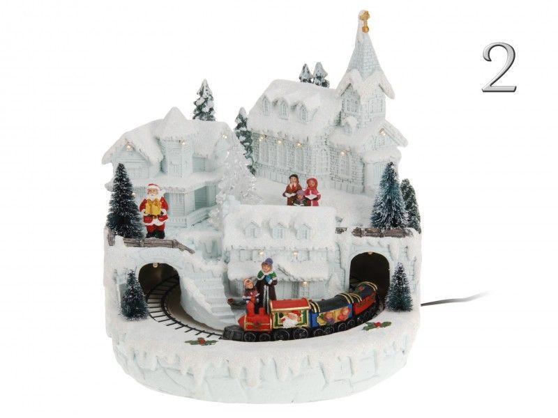 LEDes karácsonyi mozgó jelenet ACK000020 2féle