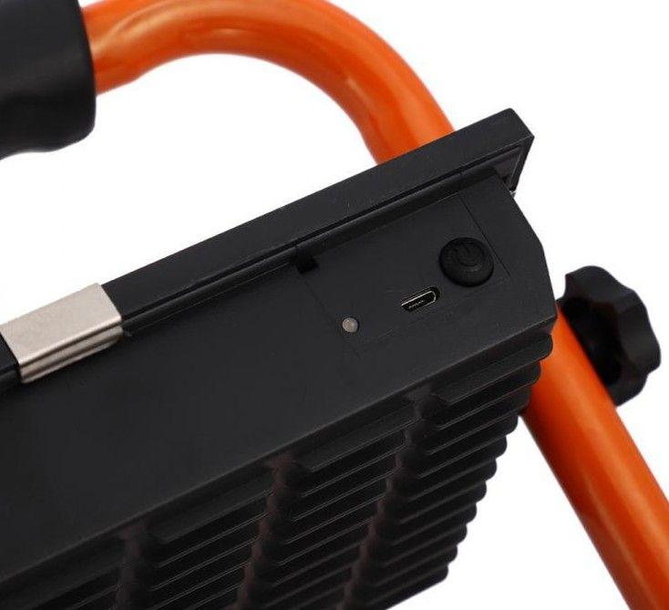 Extra fényerejű 100W Hordozható COB Led reflektor beépített akkumulátoros munkalámpa - 8505