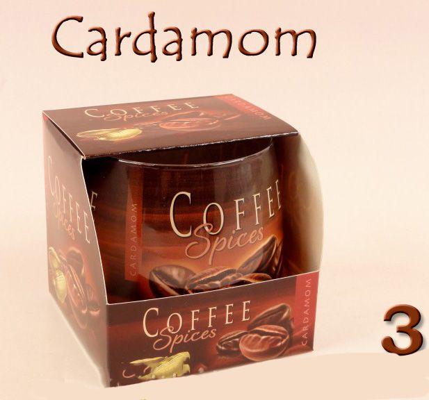 Illatos gyertya pohárban Coffee Spices 8cm 2féle
