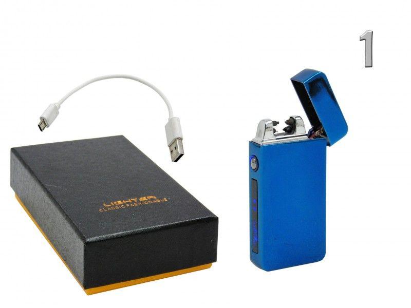 Elektromos öngyújtó USB kábellel díszdobozban 3,5x7cm JL613-1 3féle színben - Elektromos öngyújtók
