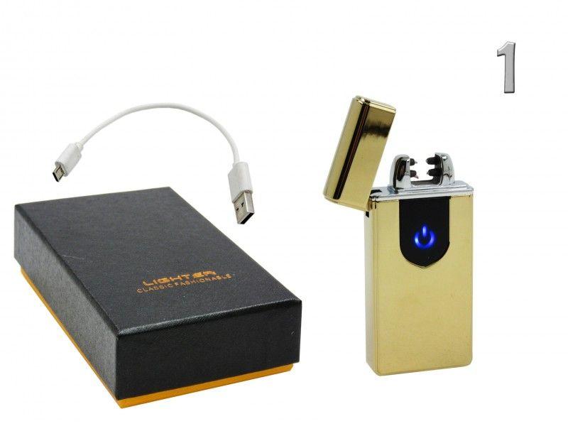 Elektromos öngyújtó USB kábellel díszdobozban 3,5x7,4cm JL316-1 USB 4féle színben - Elektromos öngyújtók