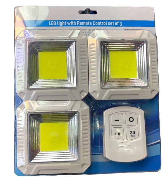 3db távirányítós Vezeték nélküli COB Led lámpa switch - Kocka