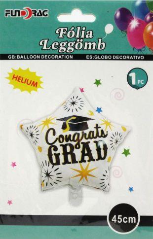 Lufi fólia csillag Congrats Grad 45cm 610355