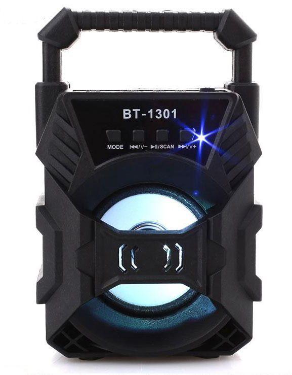 Bluetooth hangszóró LED, Akkus,Mp3,Rádió,USB, TF/micro SD kártya, AUX - BT-1301