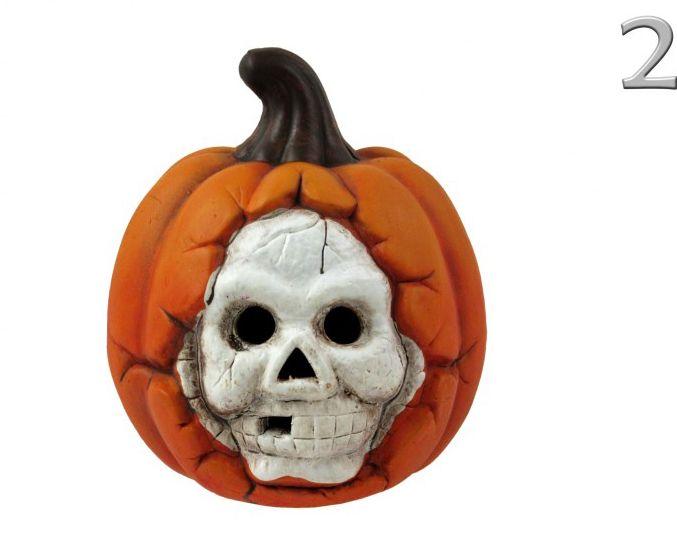LEDes világítós Halloween tök + koponya 15cm ALX950540 3féle
