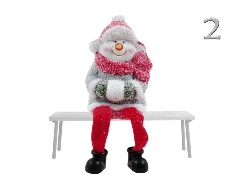 Lógólábú karácsonyi figura 10cm 2992 3féle