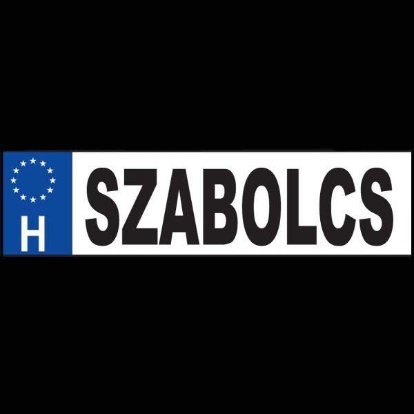 Szabolcs - Név rendszámtábla